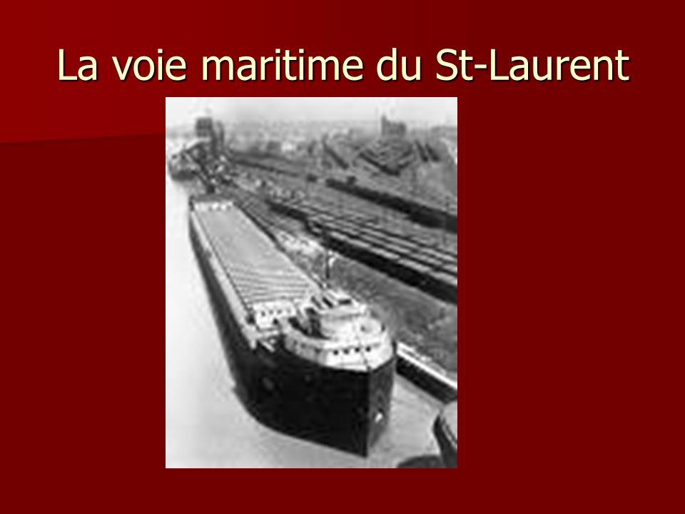 La voie maritime du St-Laurent