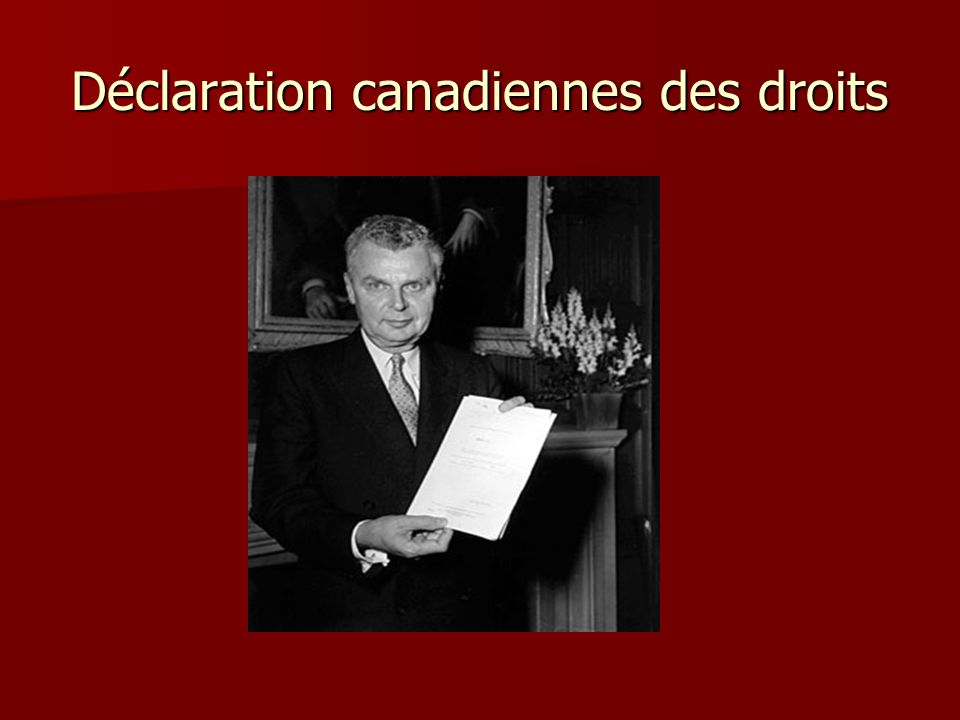 Déclaration canadiennes des droits