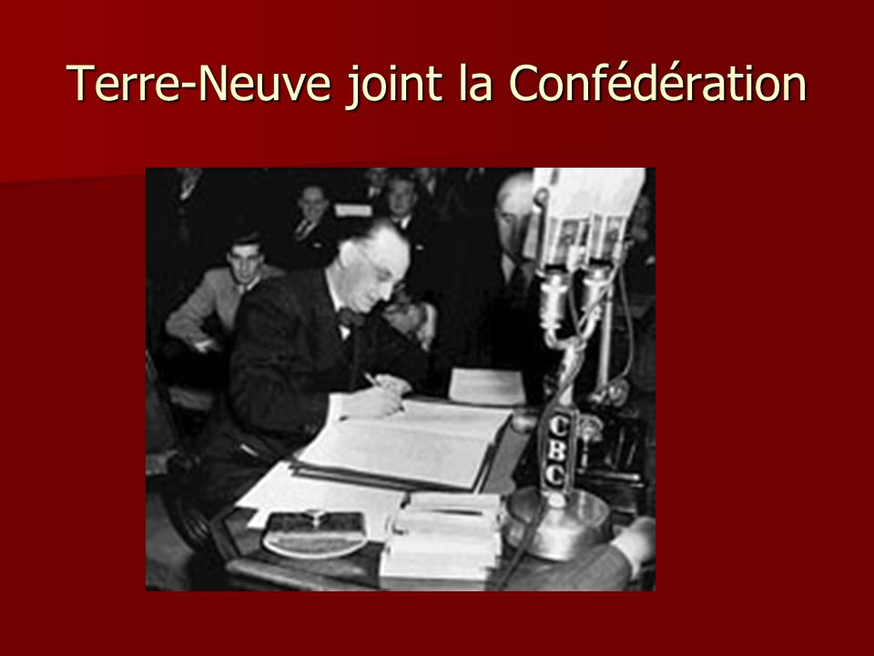 Terre-Neuve joint la Confédération