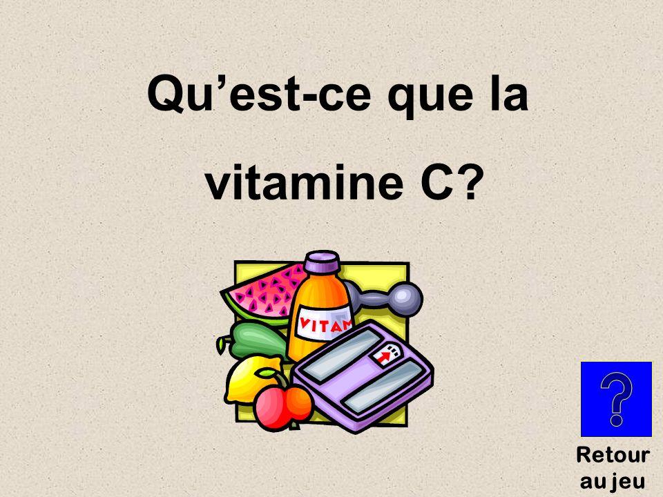 Vitamine qui fonctionne en collaboration avec le fer et qui maintient les dents et les gencives en bonne santé