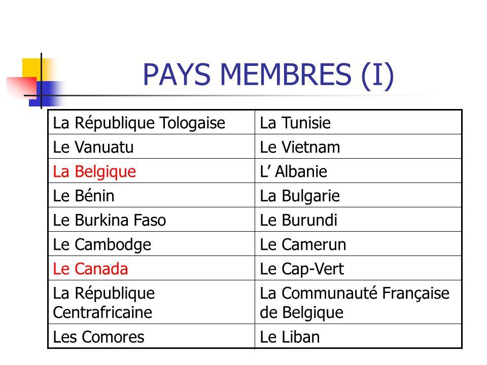 LA OIF (III) La Francophonie a 5 opérateurs directs: 1)L Agence de la Francophonie.