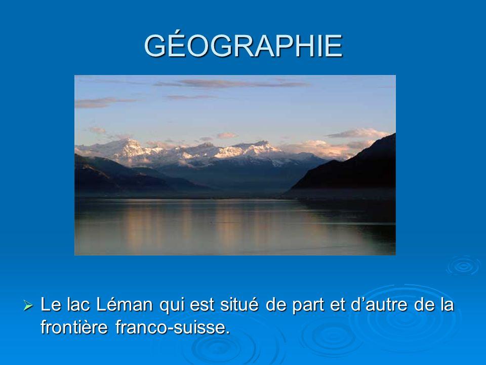 GÉOGRAPHIE Le lac Léman qui est situé de part et dautre de la frontière franco-suisse. Le lac Léman qui est situé de part et dautre de la frontière fr
