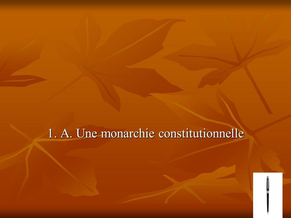 1. A. Une monarchie constitutionnelle