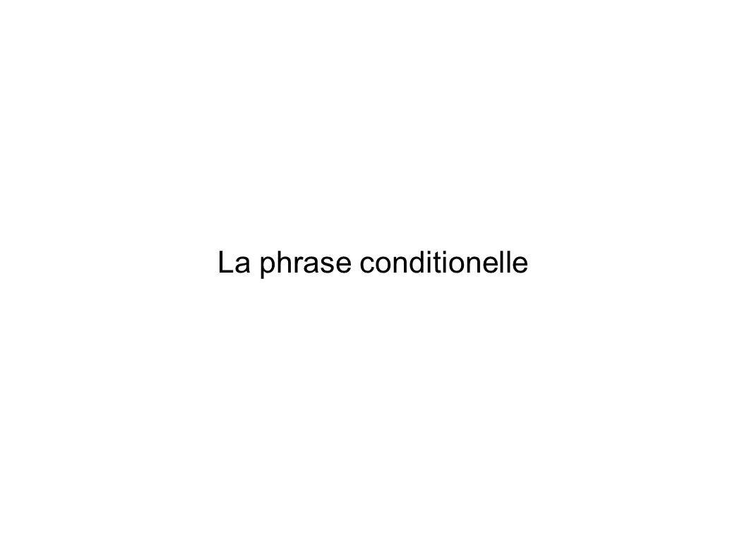 La phrase conditionelle
