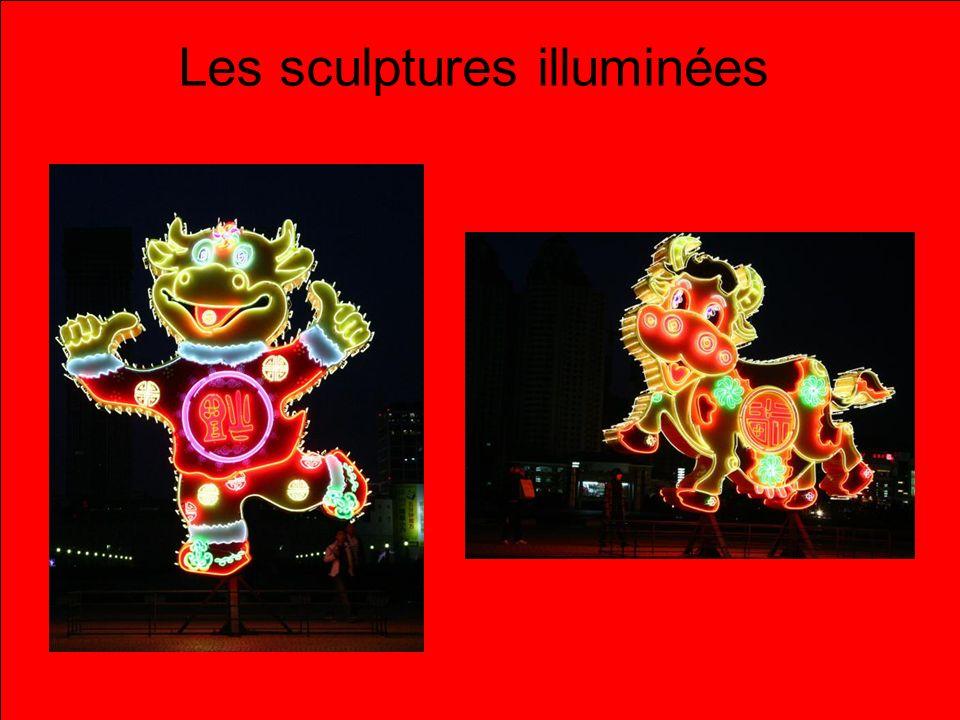 Les sculptures illuminées