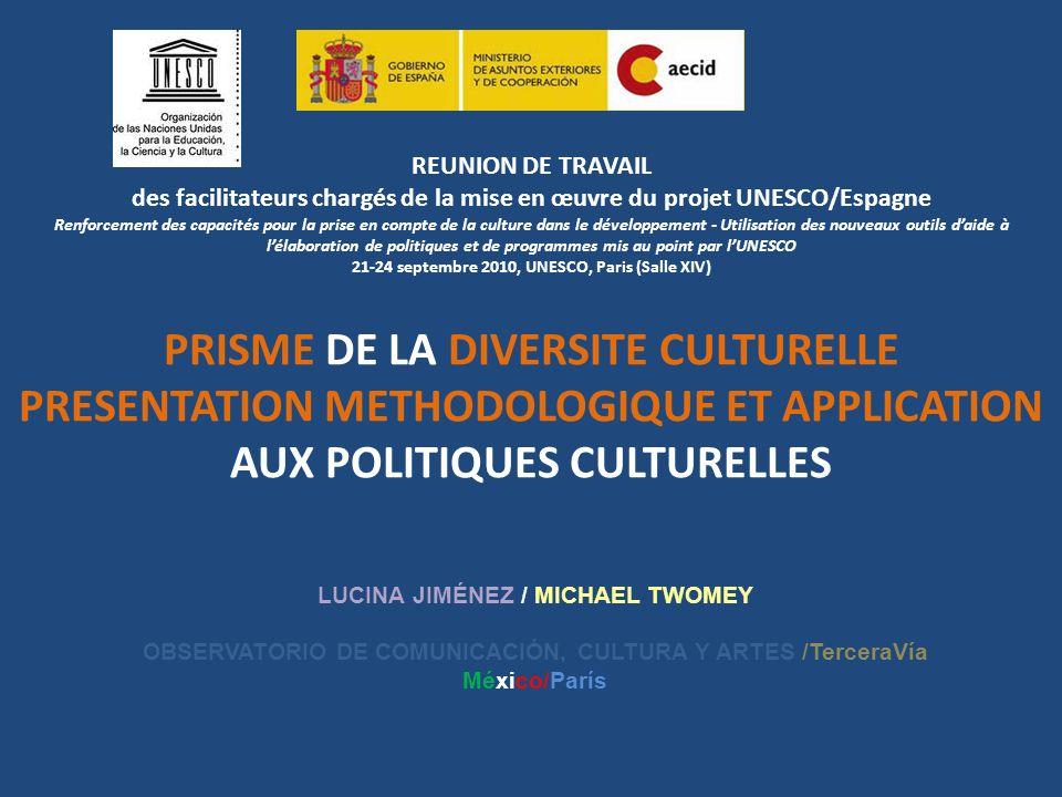 REUNION DE TRAVAIL des facilitateurs chargés de la mise en œuvre du projet UNESCO/Espagne Renforcement des capacités pour la prise en compte de la cul