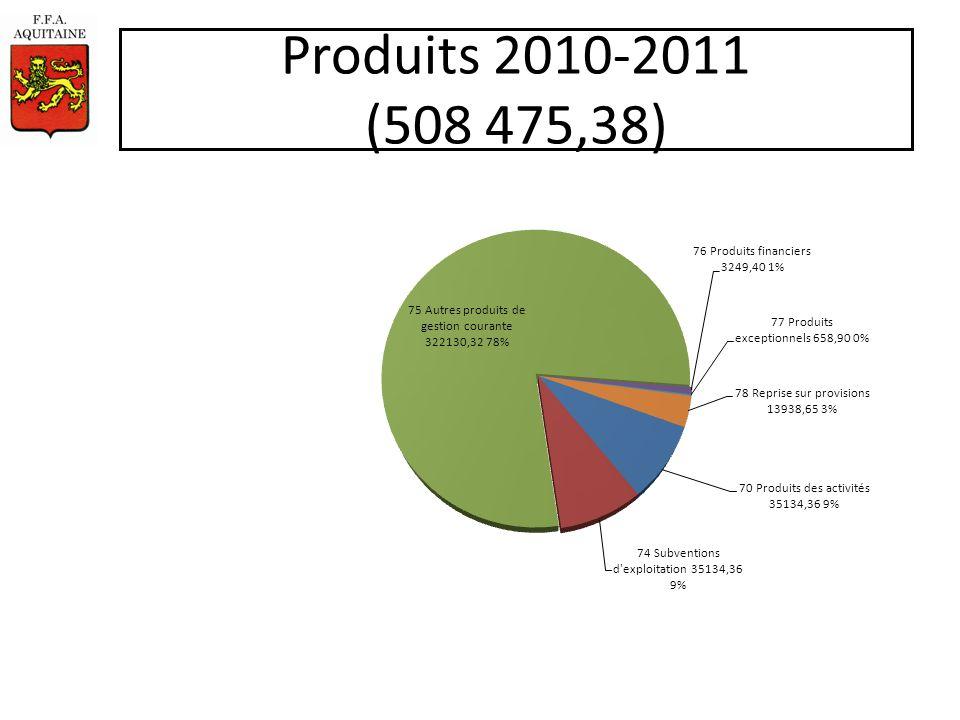 Produits 2010-2011 (508 475,38)