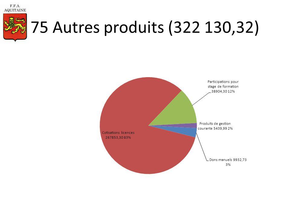 75 Autres produits (322 130,32)