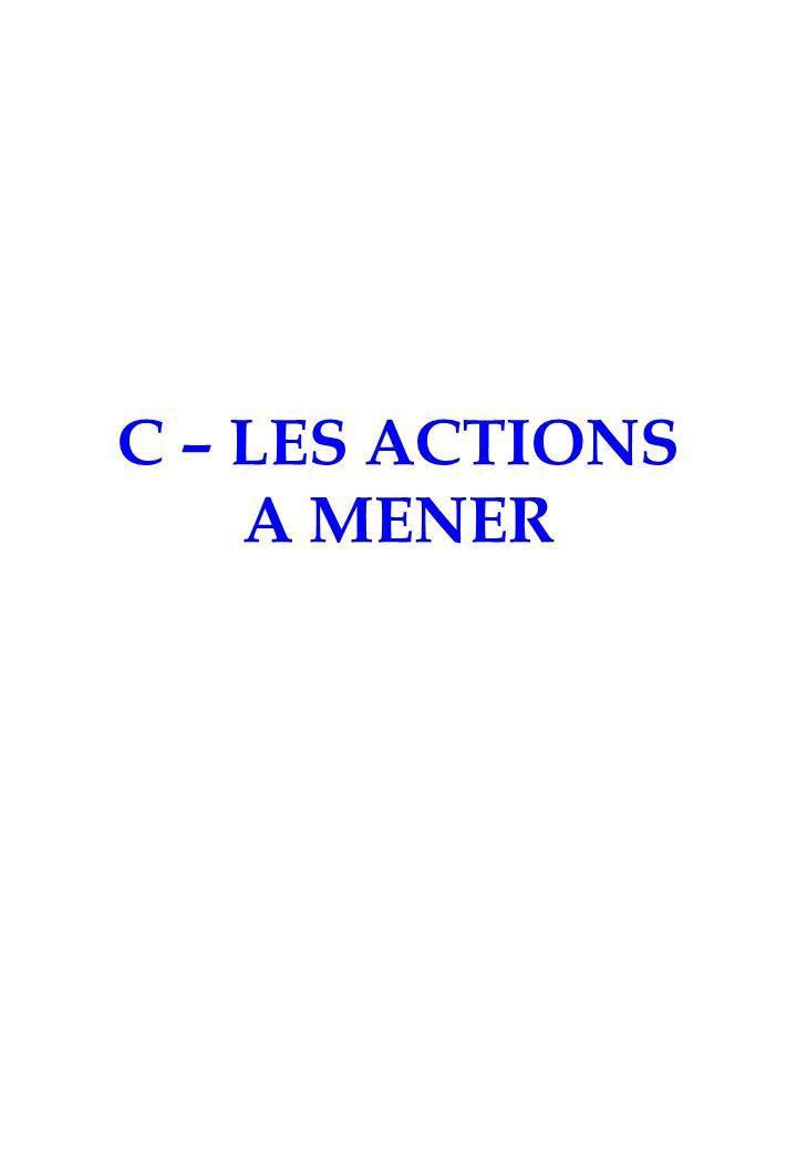 C – LES ACTIONS A MENER