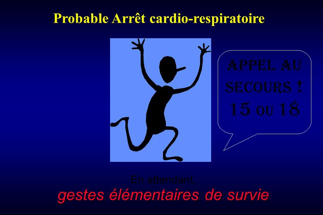 gestes élémentaires de survie En attendant, gestes élémentaires de survie Probable Arrêt cardio-respiratoire Appel au secours .