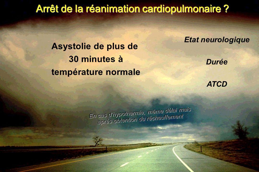 Arrêt de la réanimation cardiopulmonaire .