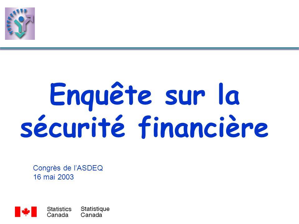 Enquête sur la sécurité financière Congrès de lASDEQ 16 mai 2003