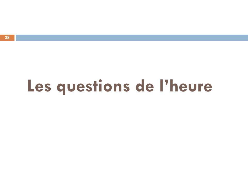 Les questions de lheure 38