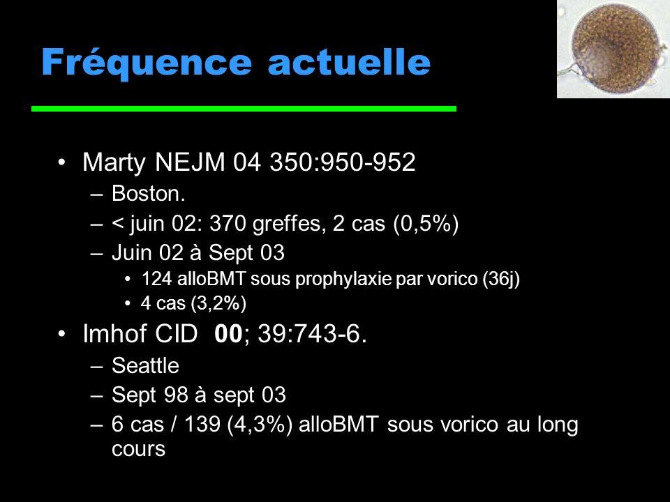 Fréquence actuelle Marty NEJM 04 350:950-952 –Boston.