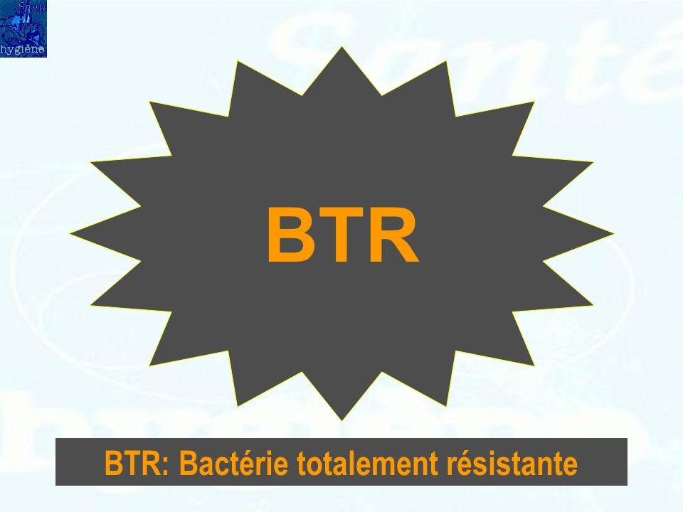 BTR BTR: Bactérie totalement résistante