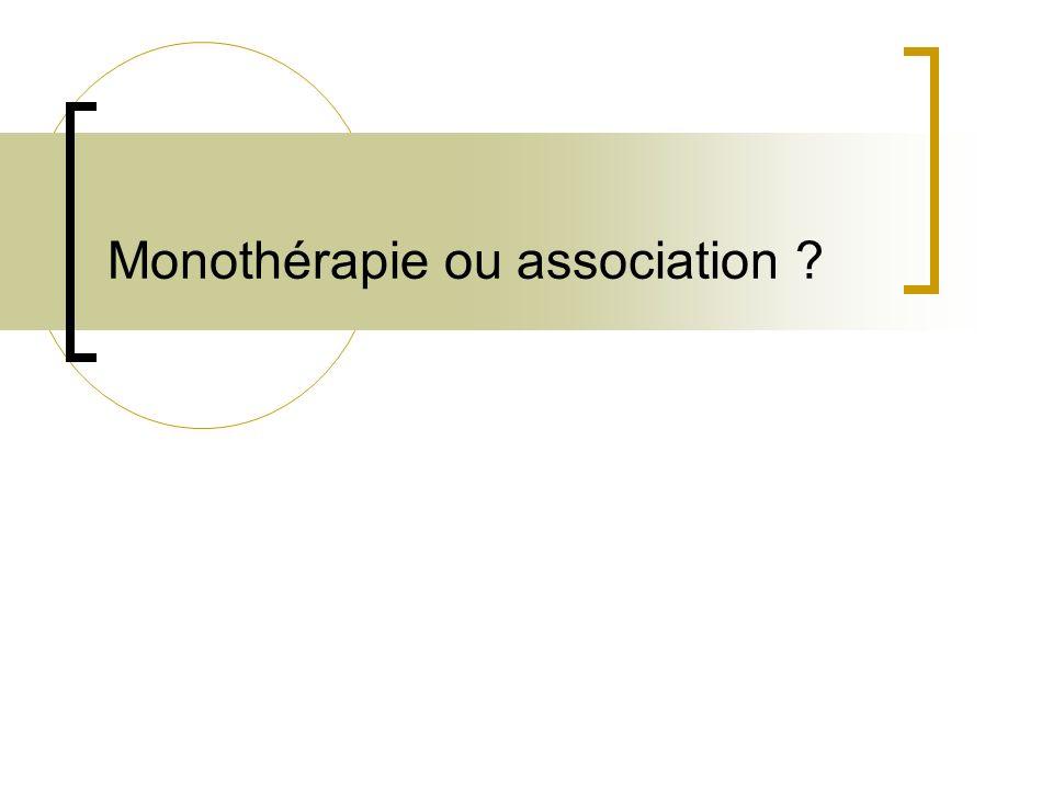 Monothérapie ou association ?