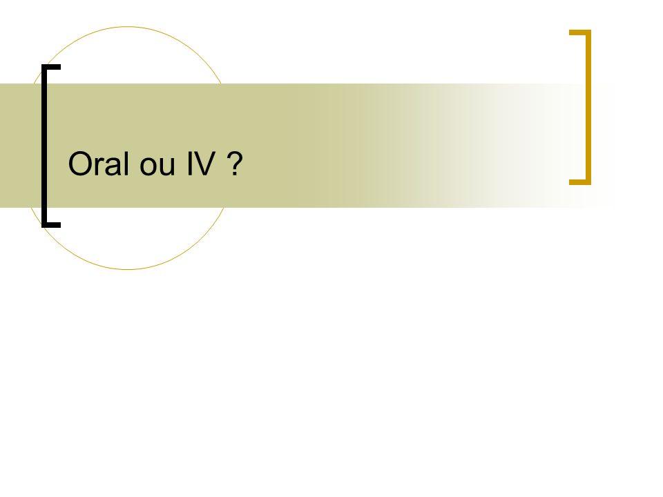 Oral ou IV ?