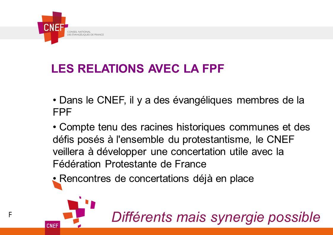 Dans le CNEF, il y a des évangéliques membres de la FPF Compte tenu des racines historiques communes et des défis posés à l'ensemble du protestantisme