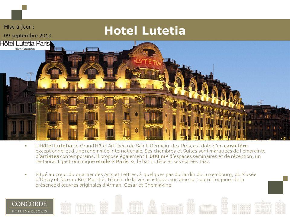 LHôtel Lutetia, le Grand Hôtel Art Déco de Saint-Germain-des-Prés, est doté dun caractère exceptionnel et dune renommée internationale. Ses chambres e