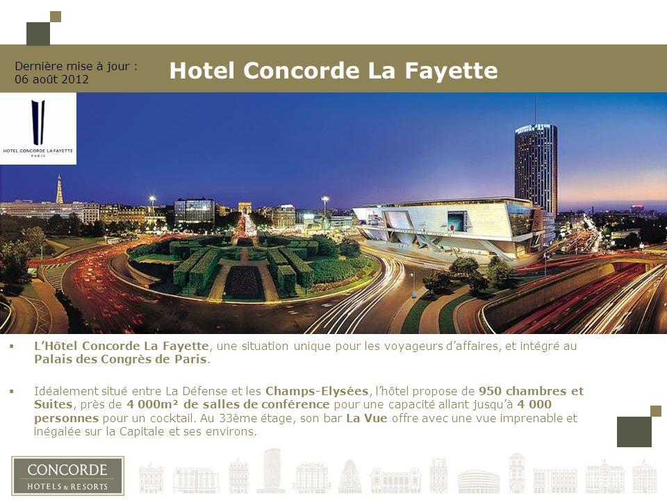 LHôtel Concorde La Fayette, une situation unique pour les voyageurs daffaires, et intégré au Palais des Congrès de Paris.