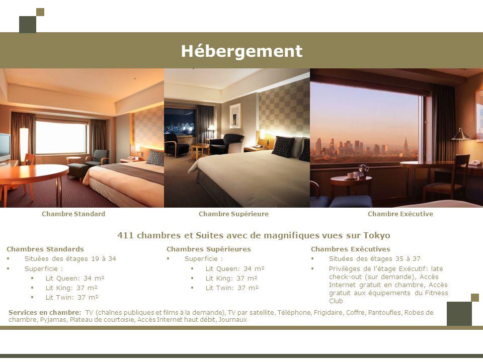 Hébergement 411 chambres et Suites avec de magnifiques vues sur Tokyo Chambre SupérieureChambre StandardChambre Exécutive Chambres Standards Situées d