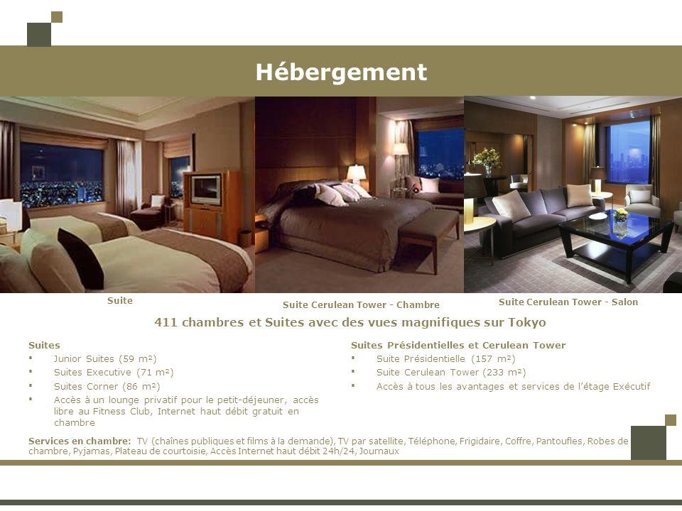 Hébergement 411 chambres et Suites avec des vues magnifiques sur Tokyo Suite Cerulean Tower - Chambre Suite Cerulean Tower - Salon Suite Suites Junior
