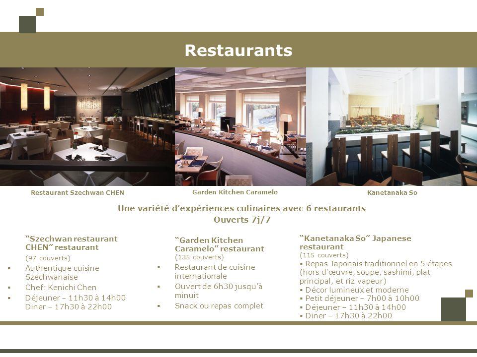 Restaurants Szechwan restaurant CHEN restaurant (97 couverts) Authentique cuisine Szechwanaise Chef: Kenichi Chen Déjeuner – 11h30 à 14h00 Diner – 17h