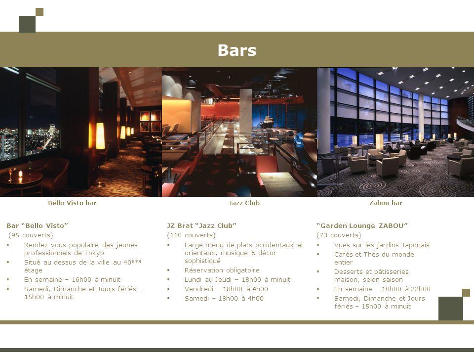 Bars Bar Bello Visto (95 couverts) Rendez-vous populaire des jeunes professionnels de Tokyo Situé au dessus de la ville au 40 ème étage En semaine – 1