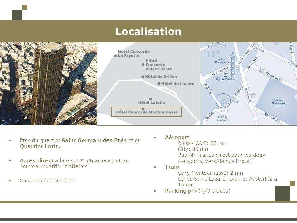 Localisation Près du quartier Saint Germain des Prés et du Quartier Latin.