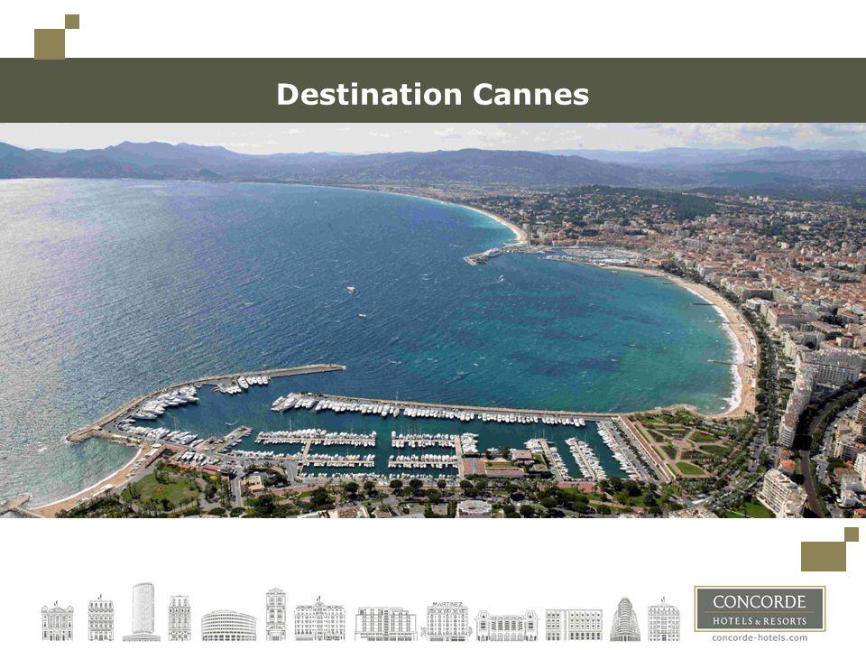 Cannes, ville célèbre et glamour 300 jours de soleil par an 3 ème ville de la région Accueillant Thales Alenia Space, la première manufacture de satellite dEurope 70 000 habitants, jusquà 160 000 pendant le Festival Lune des destinations les plus touristiques au sein de la jet set et des célébrité Festivals les plus connus :Festival du film, MIDEM, MIPIM, MIPTV, MIPCOM, ILTM