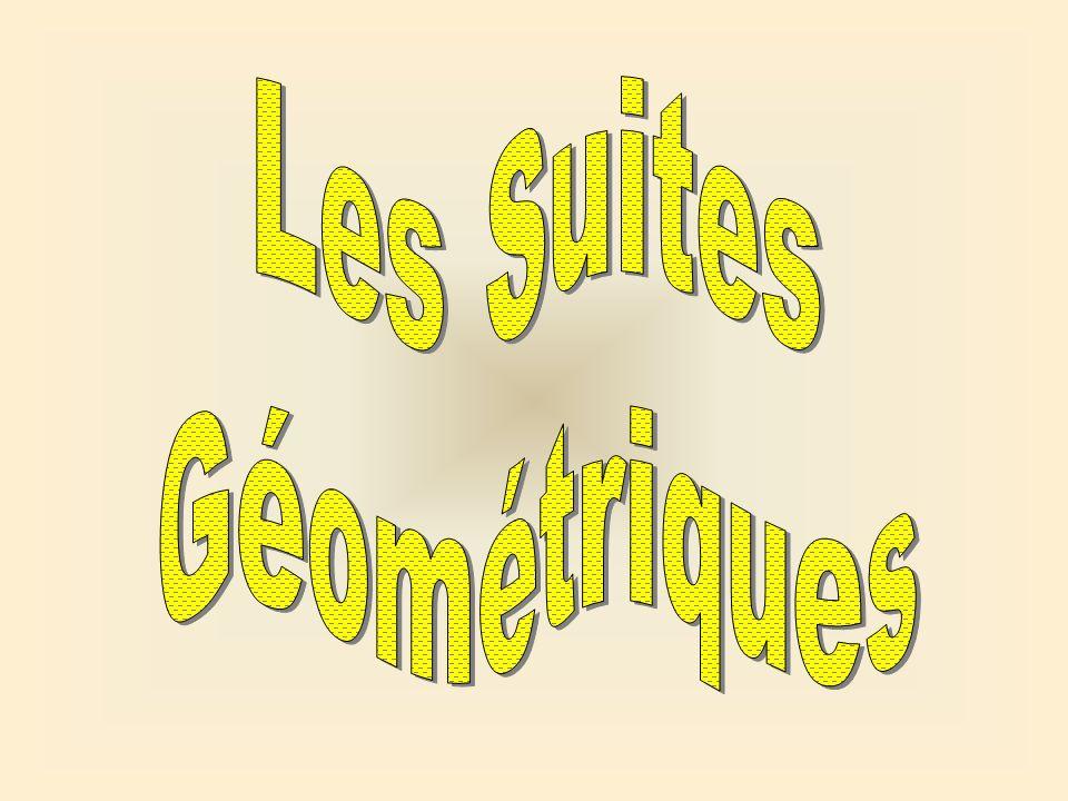 Une suite géométrique est une suite où chaque terme est obtenu en multipliant le terme précédent par une constante.