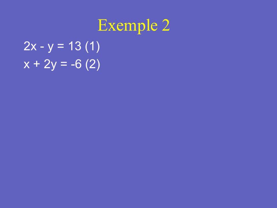 Étape 2: Substituter et résoudre. Therefore, the solution is (-2,-2)