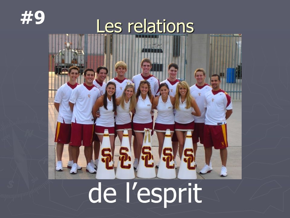 Les relations Sur qui comptes-tu? to rely on