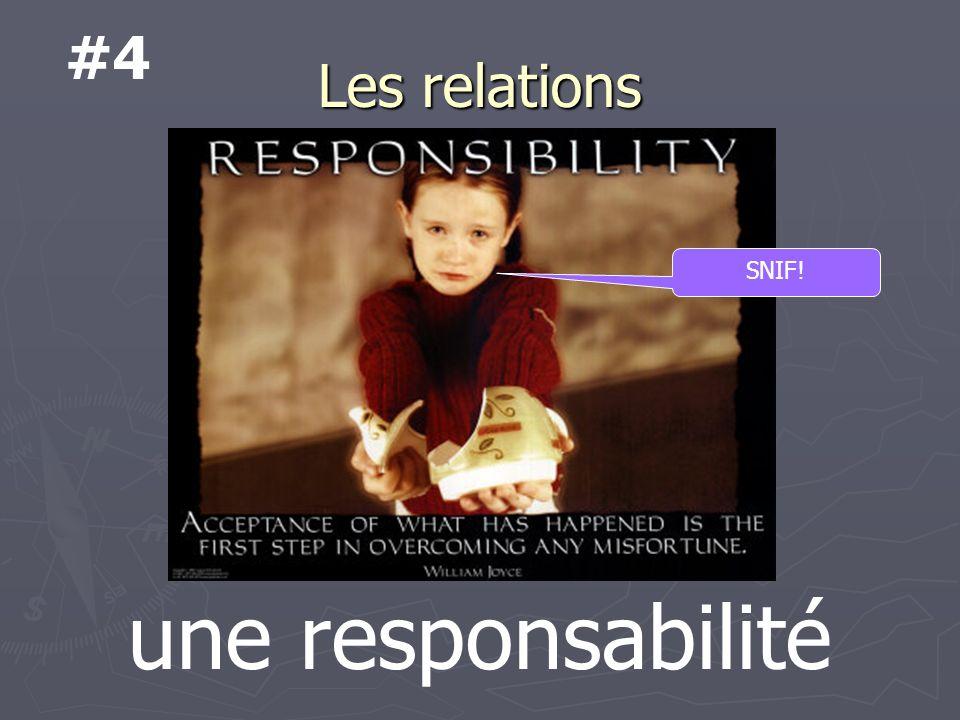Les relations une responsabilité SNIF! #4