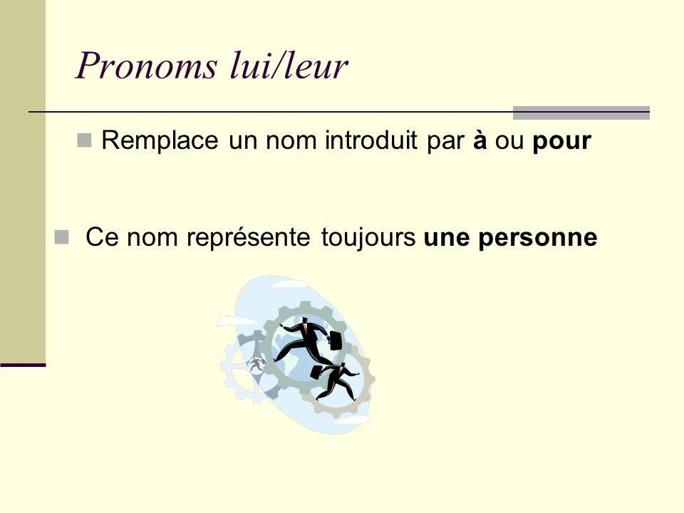 Espaces – Unité 6 Pronoms indirect Me/ Te/ Lui Nous/Vous/Leur
