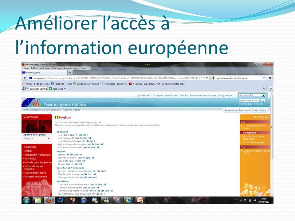 Améliorer laccès à linformation européenne