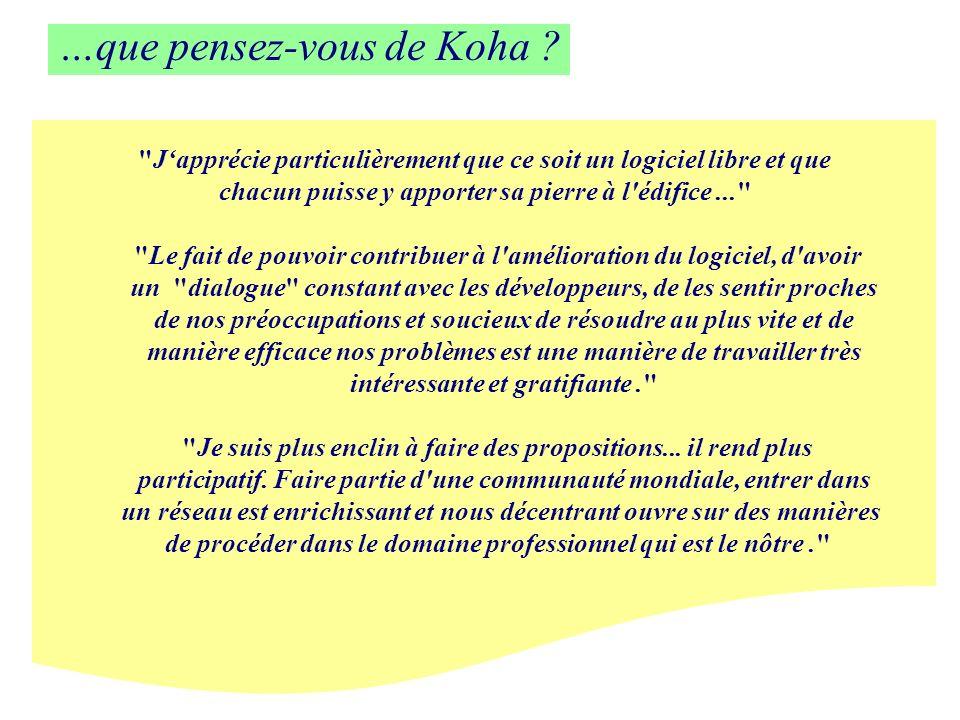 …que pensez-vous de Koha ?