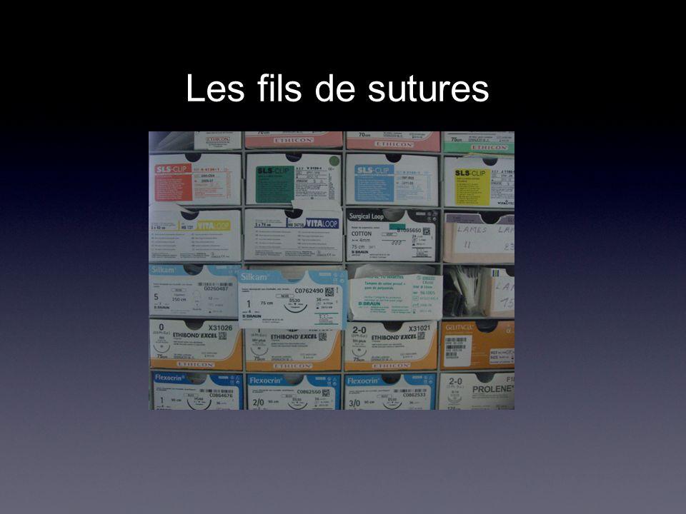 Les fils de sutures