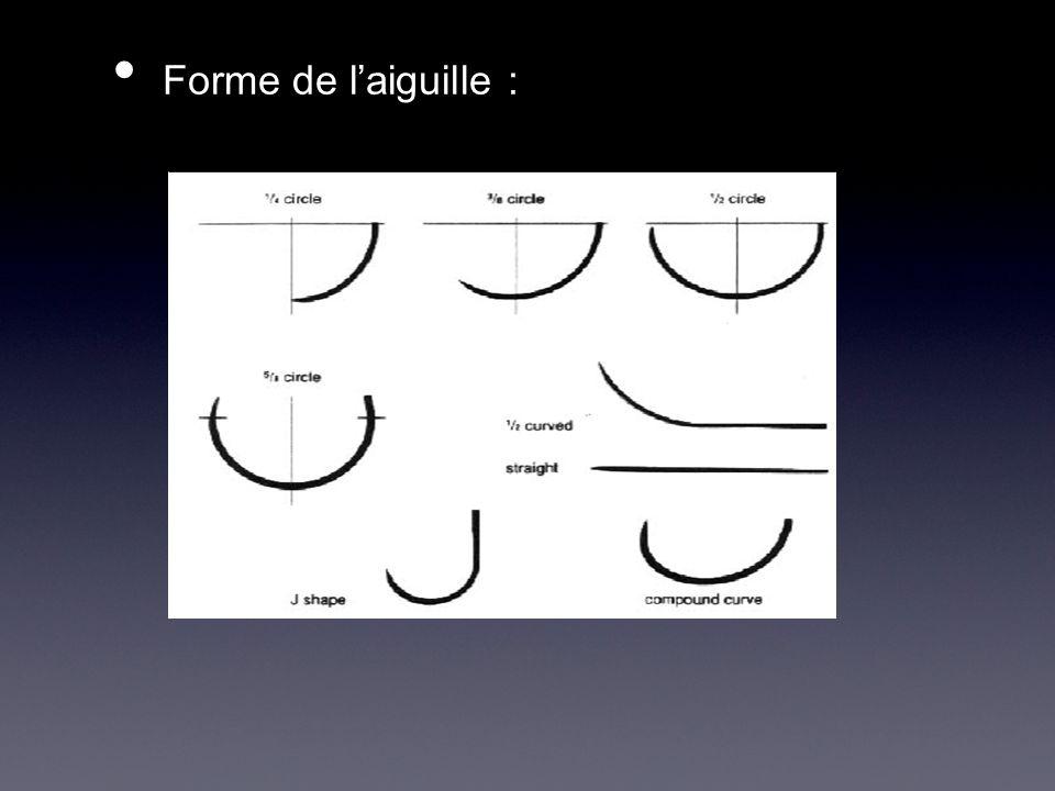 Forme de laiguille : Forme de laiguille :