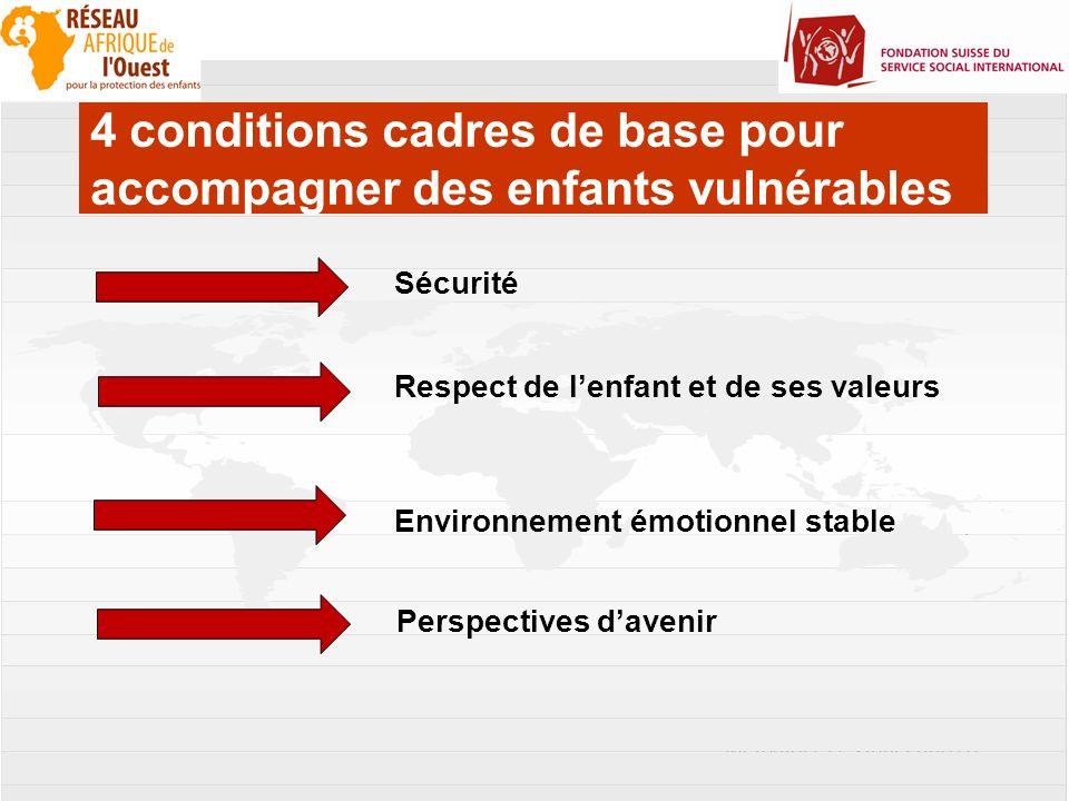 4 Pour réaliser un renforcement des capacités parentales, il faut collaborer à 4 niveaux : 1) au niveau des enfants, 2) au niveau des familles 3) au niveau des professionnels (autorités et la société civile) 4) au niveau de la communauté