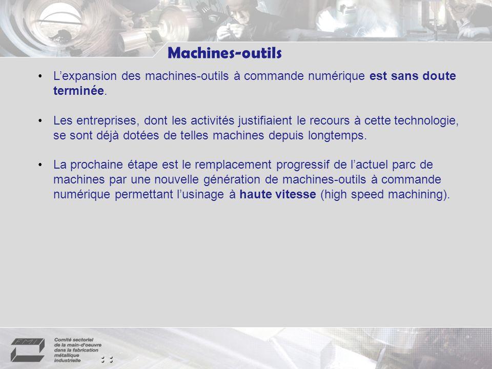 Machines-outils Lexpansion des machines-outils à commande numérique est sans doute terminée.
