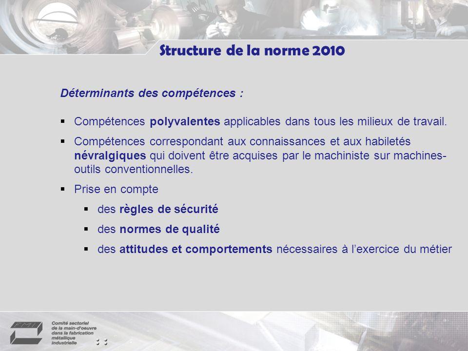 Déterminants des compétences : Compétences polyvalentes applicables dans tous les milieux de travail.