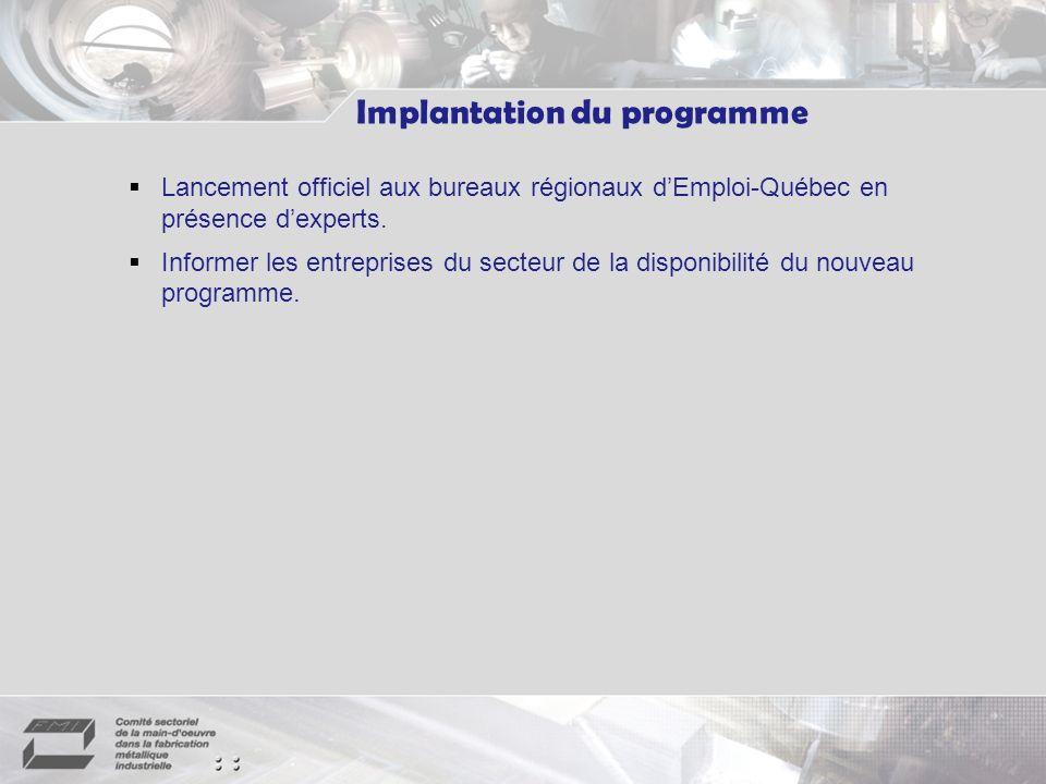 Lancement officiel aux bureaux régionaux dEmploi-Québec en présence dexperts.