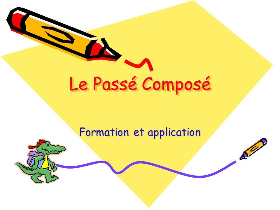Le Passé Composé Formation et application