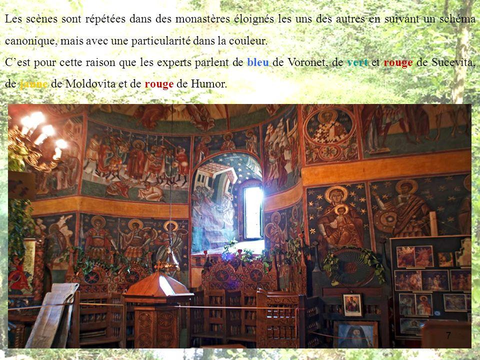 On commence notre voyage par le monastère Voronet, une des plus belle église orthodoxe dEurope, connue comme la Chapelle Sixtine dOrient car ses fresques représentent un des meilleur exemples dart européen.