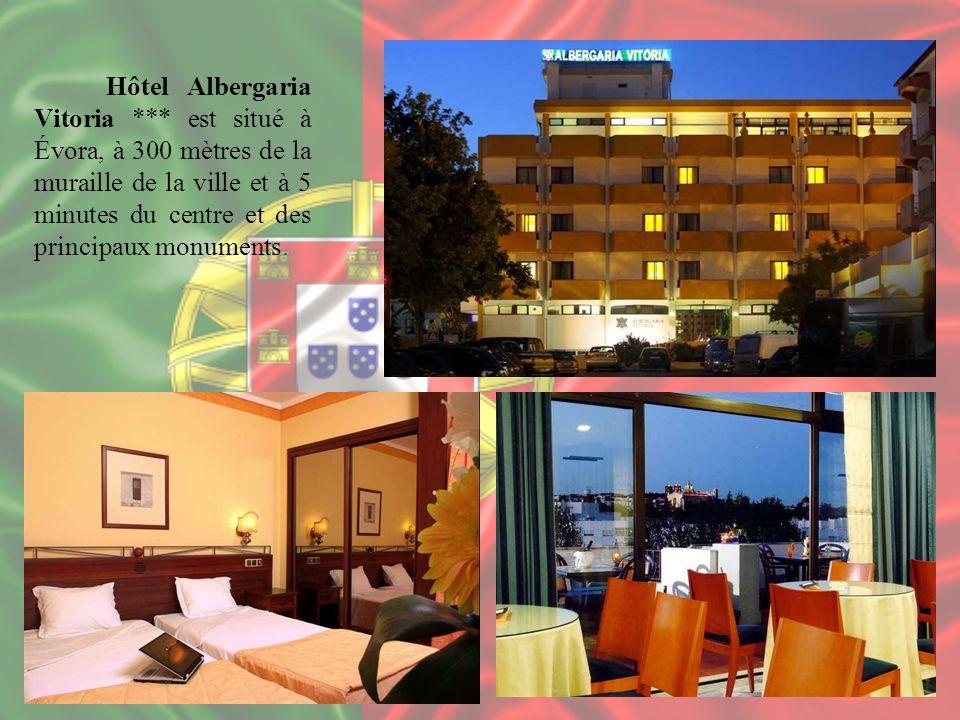 Hôtel Albergaria Vitoria *** est situé à Évora, à 300 mètres de la muraille de la ville et à 5 minutes du centre et des principaux monuments.
