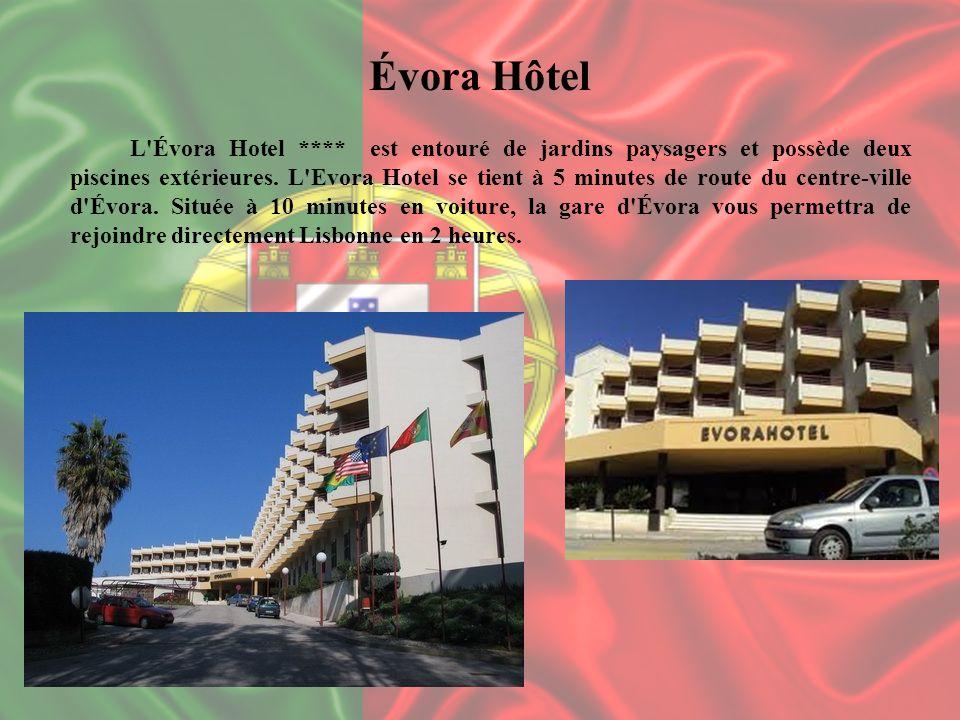 Évora Hôtel L'Évora Hotel **** est entouré de jardins paysagers et possède deux piscines extérieures. L'Evora Hotel se tient à 5 minutes de route du c