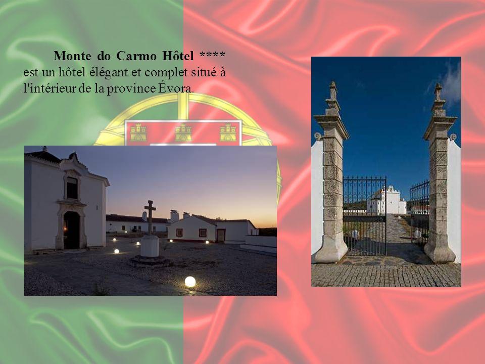 Monte do Carmo Hôtel **** est un hôtel élégant et complet situé à l'intérieur de la province Évora.