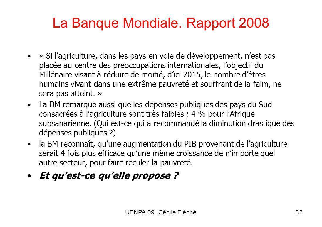 UENPA.09 Cécile Fléché32 La Banque Mondiale.