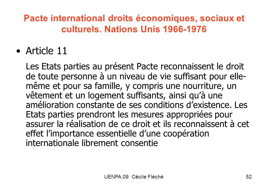 UENPA.09 Cécile Fléché52 Pacte international droits économiques, sociaux et culturels.